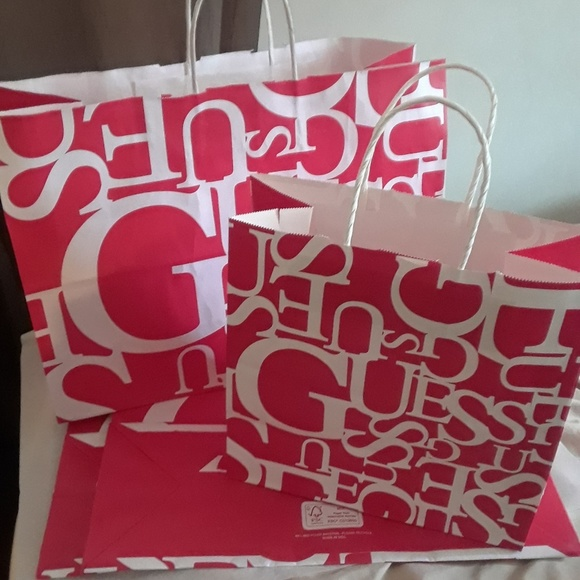4 Guess store bags